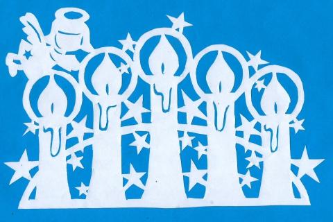 Поделка, изделие Вытынанка: Новогодние вытынанки Бумага Новый год.