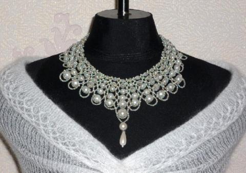 ожерелье из бисера со схемами - О том, как плести бисером.